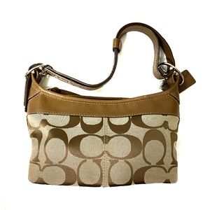 Coach :: Brown Signature Canvas/Leather Jacquard